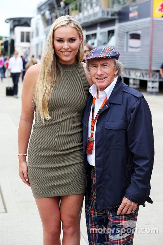 (L to R): Lindsey Vonn, Alpine Ski Racer with Jackie Stewart,