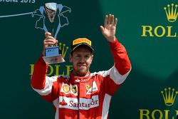 Terzo posto Sebastian Vettel, Ferrari