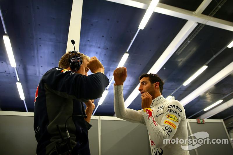 Daniel Ricciardo, Red Bull Racing trains