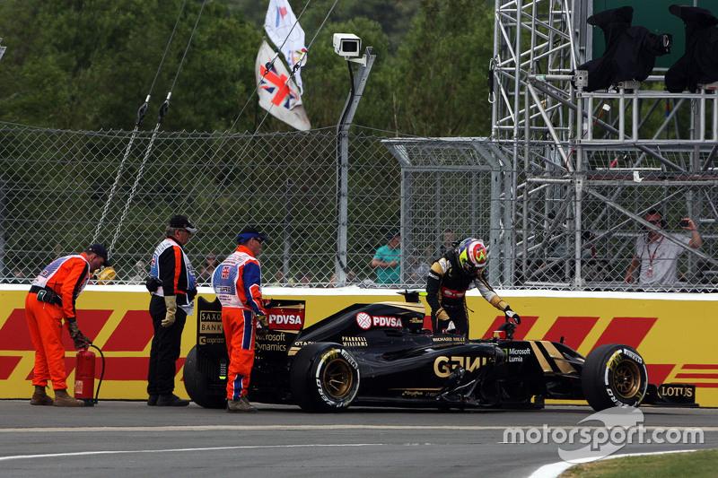 Pastor Maldonado, Lotus F1 E23, ausgeschieden