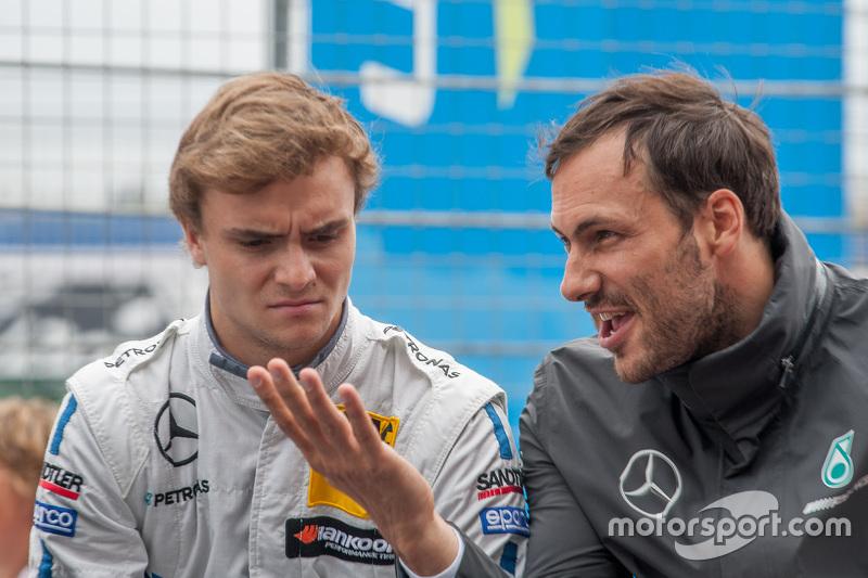 Lucas Auer, ART Grand Prix Mercedes-AMG C63 DTM; Gary Paffett, ART Grand Prix Mercedes-AMG C63 DTM