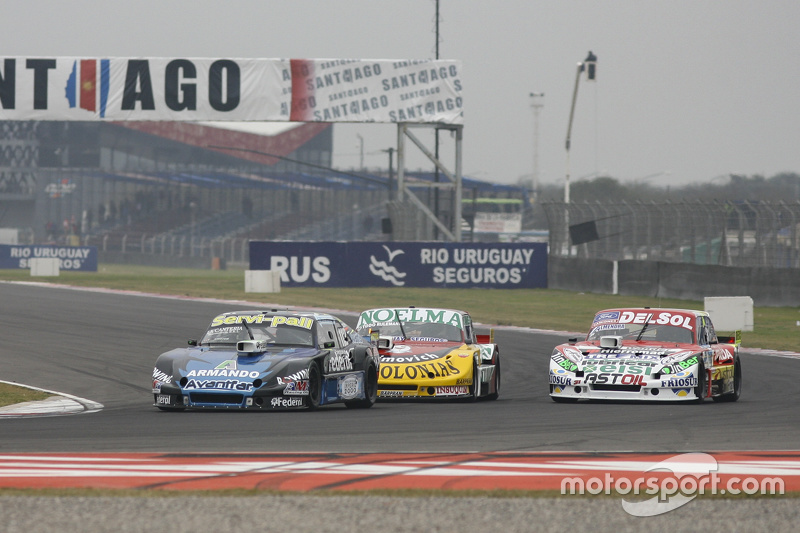 Diego de Carlo, JC Competicion Chevrolet dan Nicolas Bonelli, Bonelli Competicion Ford dan Juan Pablo Gianini, JPG Racing Ford