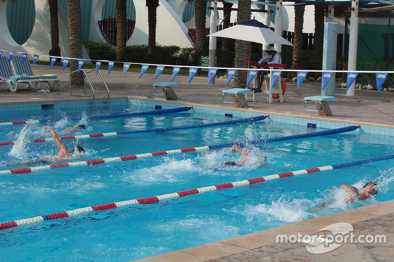 FFSA drivers training in the pool