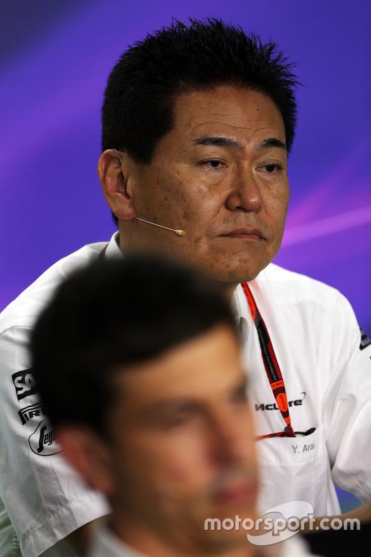 Ясухіса Араі, Керівник Honda Motorsport на пресс-конференції FIA
