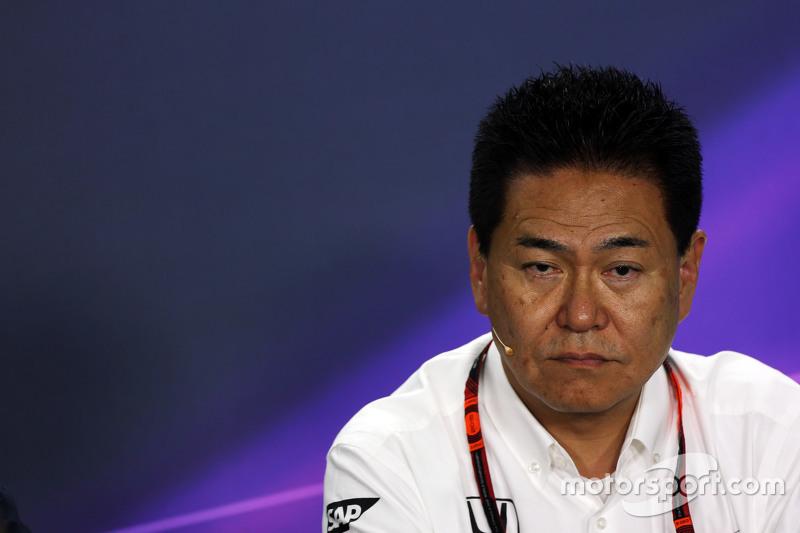 Ясухиса Араи, руководитель команды Honda Motorsport на пресс-конференции FIA