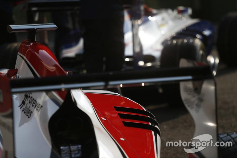 Detail dari mobil ART Grand Prix