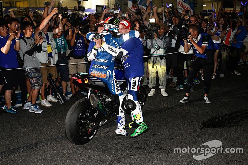 Race winners #21 Yamaha: Katsuyuki Nakasuga, Pol Espargaro, Bradley Smith
