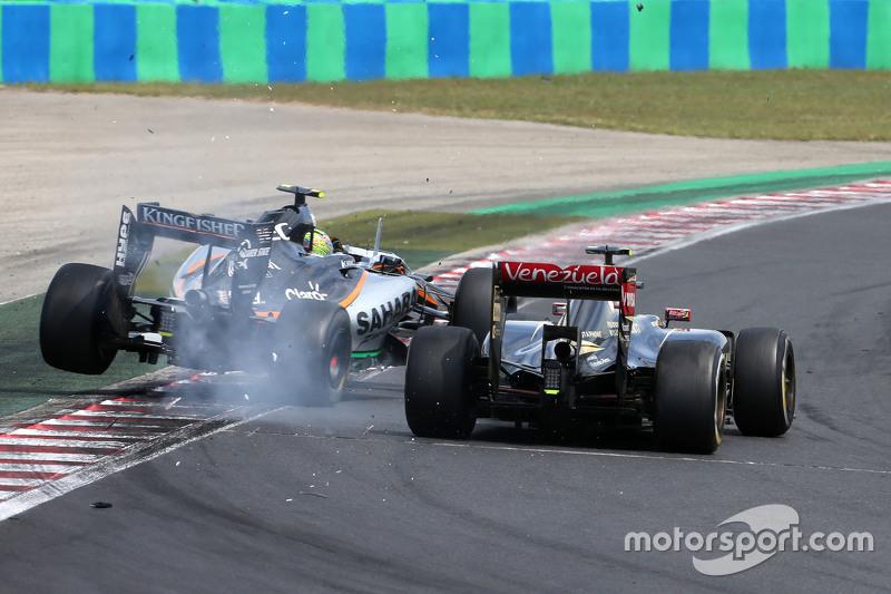 Abandono, GP de Hungría 2015