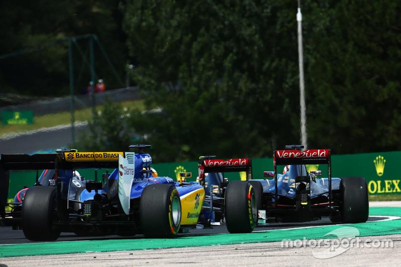 Marcus Ericsson, Sauber C34 di start of the race