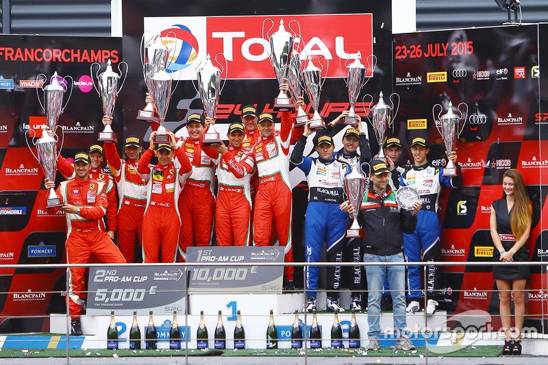 PRO-AM class подіум: переможці Стефан Лемере, Пасін Латурас, Алессандро П'єр Гуіді, Джанмаріа Бруні,