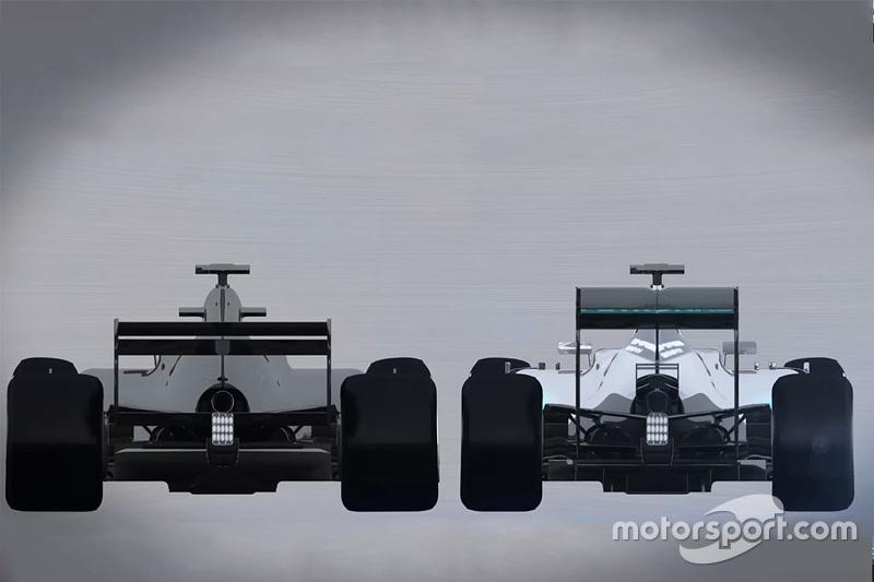 Vergelijking F1-wagens 2017 en 2015