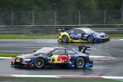Маттиас Экстрем, Audi Sport Team Abt Sportsline, Audi A5 DTM едет впереди Гэри Паффета, ART Grand Pr