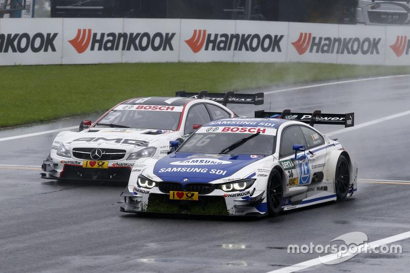 Максім Мартін, BMW Team RMG BMW M4 DTM лідирує Пол ді Реста, HWA AG Mercedes-AMG C63 DTM