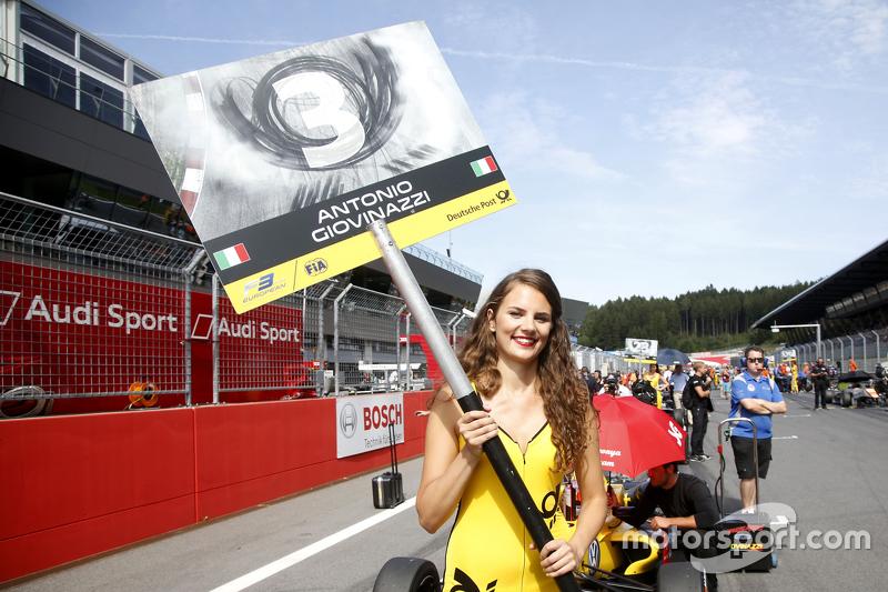 Gridgirl of Antonio Giovinazzi, Jagonya Ayam with Carlin Dallara Volkswagen