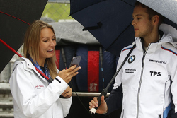 Doreen Seidel, Playmate and Tom Blomqvist, BMW Team RBM BMW M4 DTM