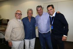 Hans Werner Aufrecht, Michael Douglas, Walter Mertes, Michael Mronz