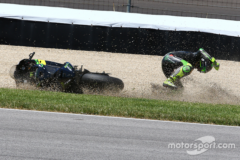 Pol Espargaro, Monster Yamaha Tech 3 crashes