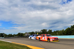 Darrell Wallace Jr., Roush Fenway Racing Ford and Kyle Larson, HScott Motorsports Chevrolet