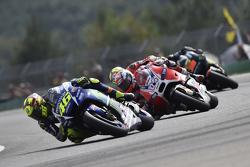 Valentino Rossi, Yamaha Factory Racing y Andrea Dovizioso, Ducati Team