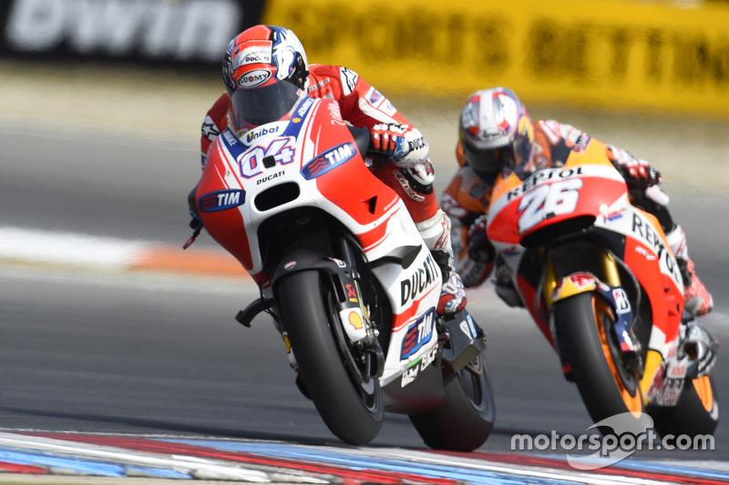 Andrea Dovizioso, Ducati Team dan Dani Pedrosa, Repsol Honda Team