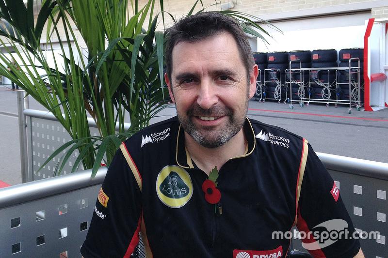 Greg Baker, capo meccanico Lotus F1