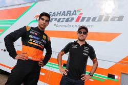 Jehan Daruvala en Sergio Perez