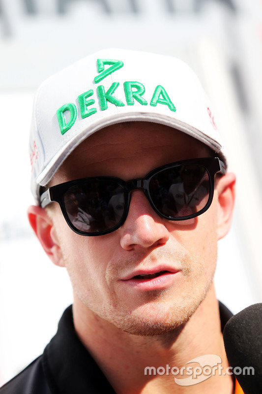 Nico Hulkenberg, Sahara Force India F1 bersama the media