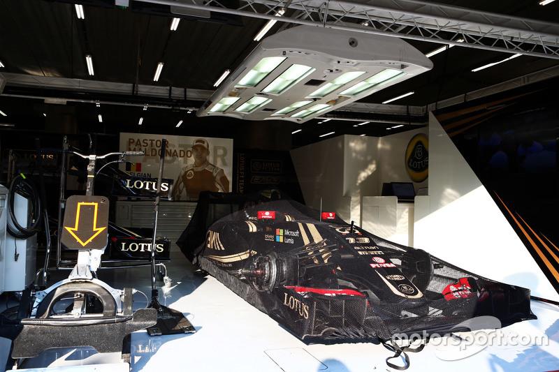 Lotus F1 E23 Пастор Мальдонадо, Lotus F1 Team в закритому парку conditions