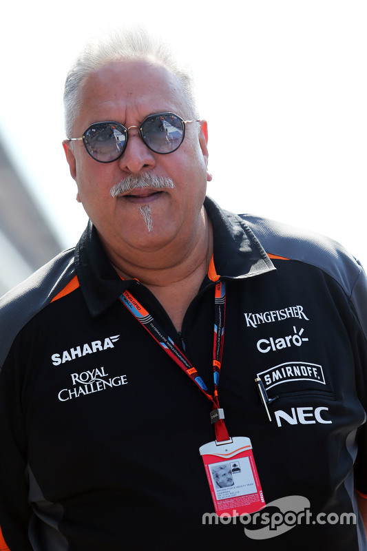 Dr. Vijay Mallya, Pemilik tim Sahara Force India F1