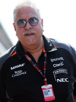 Доктор Виджей Малья, владелец команды Sahara Force India F1