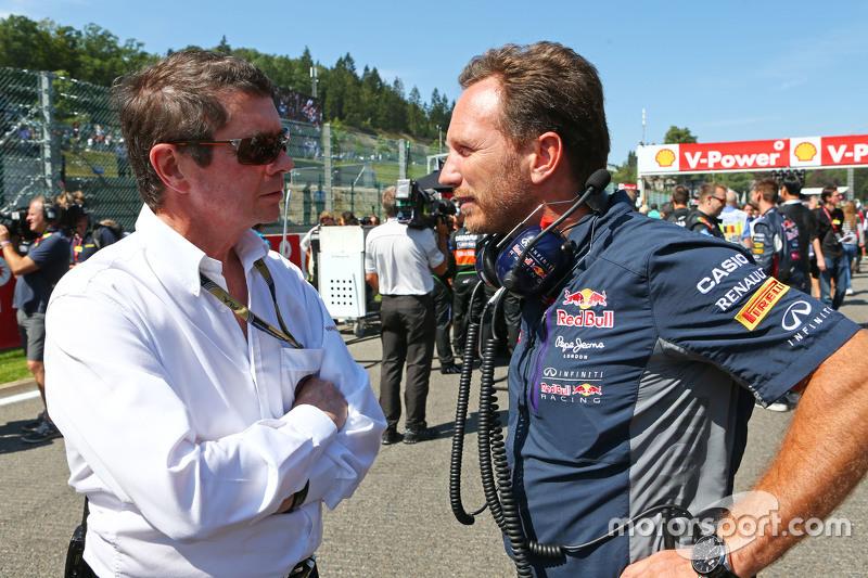 Christian Horner, Red Bull Racing Team Principal, di grid
