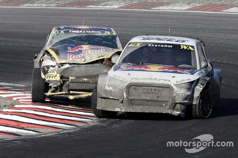 Mattias Ekström, EKS RX Audi S1, dan Timur Timerzyanov, Olsbergs MSE Ford Fiesta ST