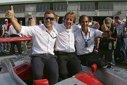 Leyendas de Audi Tom Kristensen, Frank Biela, Emanuele Pirro