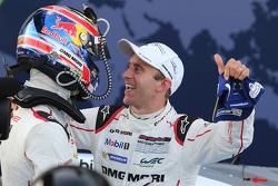 Race winner Mark Webber, Porsche Team with teammate Timo Bernhard