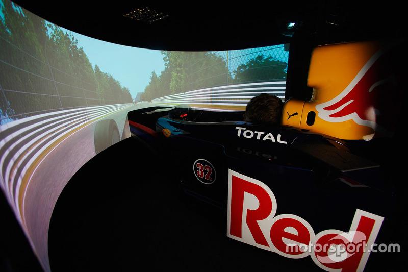 De hypermoderne Red Bull Racing simulator