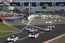 Inicio: #18 Porsche Team Porsche 919 Hybrid: Romain Dumas, Neel Jani, Marc Lieb lider