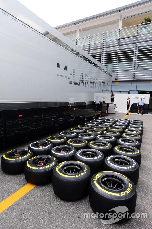 Pirelli tyres for the McLaren team