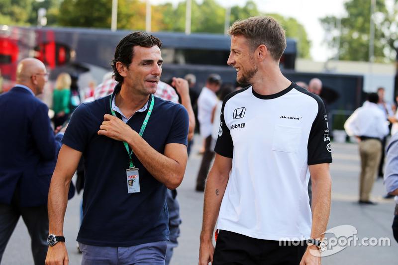 Pedro De La Rosa, Ferrari Development Driver with Jenson Button, McLaren