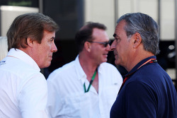 Danny Sullivan, FIA Steward with Carlos Sainz