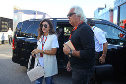 Fabiana Flosi, wife of Bernie Ecclestone with Flavio Briatore
