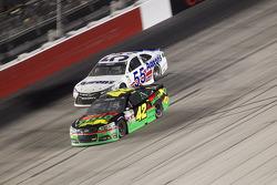 Kyle Larson, Chip Ganassi Racing Chevrolet and David Ragan, Michael Waltrip Racing Toyota
