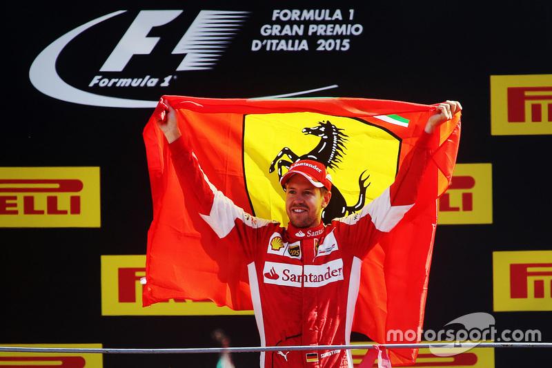 Podium: segundo, lugar, Sebastian Vettel, Ferrari