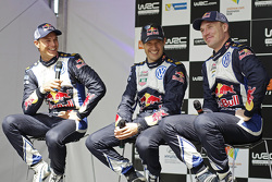 Andreas Mikkelsen, Sébastien Ogier, Jari-Matti Latvala, Volkswagen Motorsport