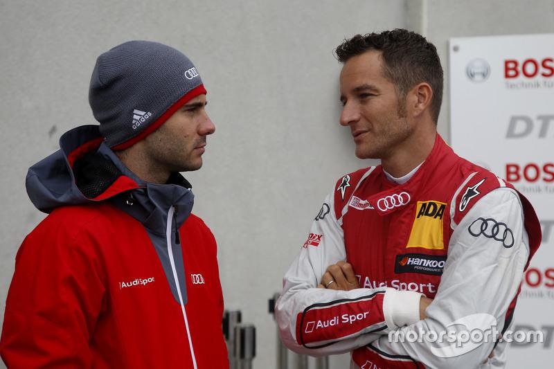 Miguel Molina, Audi Sport Team Abt Audi RS 5 DTM and Timo Scheider, Audi Sport Team Phoenix Audi RS