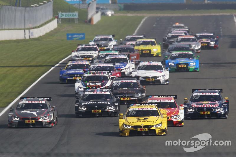 Start: Timo Glock, BMW Team MTEK, BMW M4 DTM, in Führung