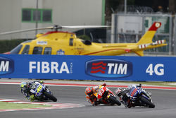 Jorge Lorenzo, Yamaha Factory Racing e Marc Marquez, Repsol Honda Team e Valentino Rossi, Yamaha Factory Racing