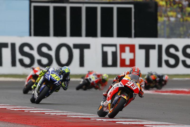 Марк Маркес, Repsol Honda Team та Валентіно Россі, Yamaha Factory Racing