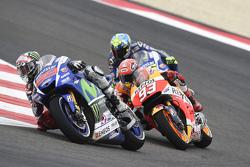 Jorge Lorenzo, Yamaha Factory Racing y Marc Márquez, Repsol Honda Team y Valentino Rossi, Yamaha Fac