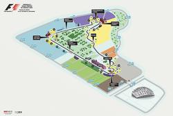 Mapa final del Circuito Autódromo Hermanos Rodríguez para el GP de México
