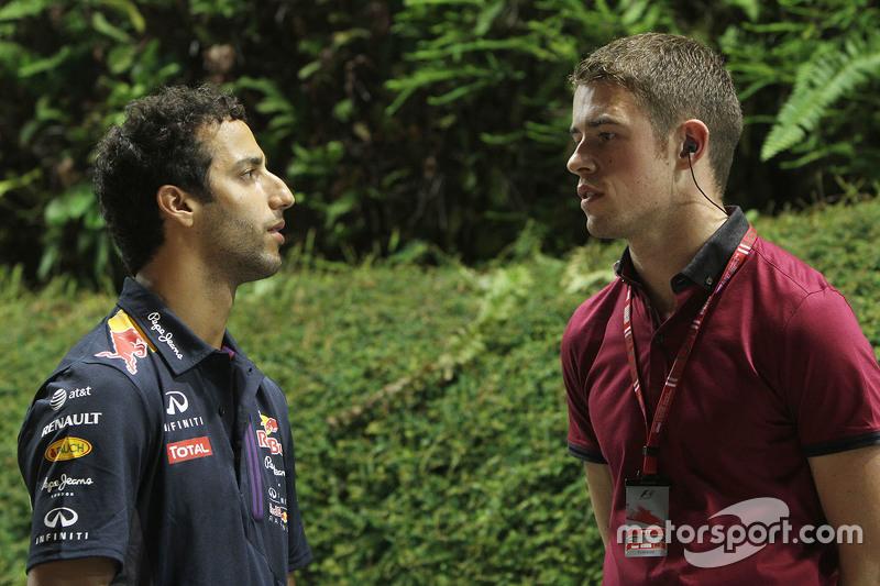 Daniel Ricciardo, Red Bull Racing with Paul di Resta, DTM Driver
